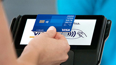 Tapping contactless card at a pos